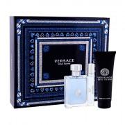 Versace Pour Homme confezione regalo eau de toilette 100 ml + eau de toilette 10 ml + doccia gel 150 ml uomo