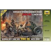 PAK-36 WITH CREW löveg makett Zvezda 3610