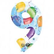 Balon folie Cifra 9 imprimat baloane 63 * 88 cm