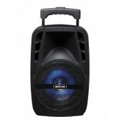 """Astrum TM075 """"Trolley"""" hordozható bluetooth hangszóró 8.0"""", 25W, FM, USB, MicroSD, színes LED világítás, távirányító, mikrofon"""