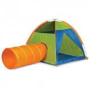 Pacific Play Tents Kids Hide Me Dome Tent and Crawl Tunnel Combo Blue / Green / Orange