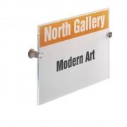 DURABLE Türschild CRYSTAL SIGN aus Acrylglas, für DIN A4, VE 3 Stk HxB 297 x 210 mm