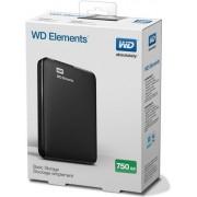 HDD eksterni Western Digital Elements™ Portable 750GB, 2.5˝ WDBUZG7500ABK