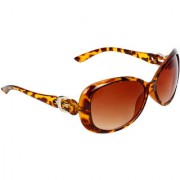 Zyaden Brown UV Protection Oval Women Sunglasses