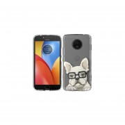 Funda Para Celular Motorola E4 Plus Perro Hipster