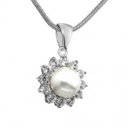 Silvego Stříbrný přívěsek s perlou LUCIA - FNJP0343-CZ