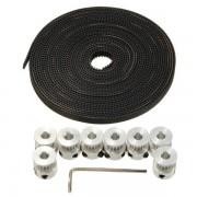 Meco 8 Pcs GT2 16T Bore 5mm Timing Pulley 5M Belt For RepRap Prusa Mendel 3D Printer
