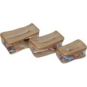 Kuber Industries Travel organiser,Multi Purpose Kit Set of 3 pcs Travel Toiletry Kit(Gold)