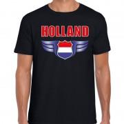 Bellatio Decorations Holland ek / wk landen shirt Nederland zwart voor heren