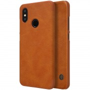 NILLKIN Qin Series Card Slot Leather Mobile Case for Xiaomi Mi 8 (6.21-inch) - Brown