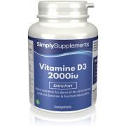 Simply Supplements Vitamine D3 2000iu - 120 Comprimés