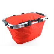 Cos picnic izolat termic cu maner pliabil, culoare Rosu