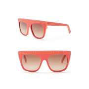 Stella McCartney 54mm Chain Embossed Flat Top Sunglasses PINKPEACH