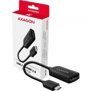 A modern USB-C -> HDMI 2.0 active adapter AXAGON RVC-HI2 for connecting an HDMI /TV/projector to a notebook or mobile phone u