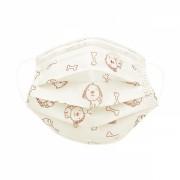 Masca chirurgicala protectie copii 6 - 12 ani, in 3 straturi cu 3 pliuri , prindere cu elastic, pachet 10 bucati