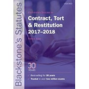 Blackstone's Statutes on Contract, Tort & Restitution 2017-2, Paperback