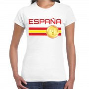 Bellatio Decorations Espana / Spanje landen t-shirt wit dames