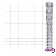 vidaXL Vrtna mrežasta galvanizirana ograda 150/12/30