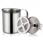 TRIBALSENSATION Stainless Steel Milk Pitcher for frothing milk, coffee with foam, capp
