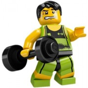 Lego Collectable Minifigures: Weightlifter Minifigure - Series 2 - Bagged