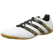 adidas Men's Ace 16.4 In Ftwwht, Cblack and Goldmt Football Boots - 8 UK/India (42 EU)