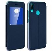 Avizar Funda Libro con Ventana Azul para Huawei P Smart 2019/Honor 10 Lite