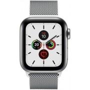 Apple Wie neu: Apple Watch Series 5 40 mm Edelstahl GPS + Cellular silber Milanaise Armband silber