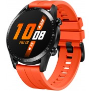 "Smartwatch Huawei Watch GT 2, Procesor Kirin A1, Display 3D AMOLED HD 1.39"", 32MB RAM, 4GB Flash, Bluetooth, GPS, Carcasa Otel, Rezistent la apa, Andorid/iOS (Portocaliu)"