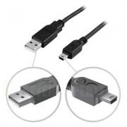 . USB 2.0 kabel Typ A Hane - Typ Mini B Hane 5m, grå