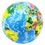 """2.5"""" World Earth Globe Squeeze Foam Toy Ball, Perfect for Stress Relieving, Add On for Sports Playsets by Toy Balls"""