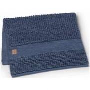 Juna Badrumsmatta Check 100X60 cm Mörkblå