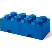 Cutie depozitare LEGO 2x4 cu sertare - Albastru 40061731