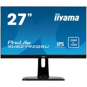 "Monitor IPS, IIYAMA 27"", ProLite XUB2792QSU-B1, 5ms, 5Mln:1, DVI/HDMI/DP, Speakers, 2560x1440"