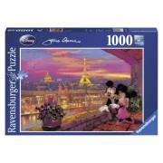 Puzzle Disney apusul la Paris, 1000 piese, RAVENSBURGER