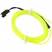 ER Colorido 2m Cable Electroluminiscente Cuerda Flexible Del Tubo De Luz De Neón De Coche 12V DC Parte Bar Decoración -Green