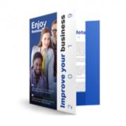 .flyer.be 2000 Presentatiemappen drukken DIN A4 sans rabats, Avec perforation pour feuille à insérer