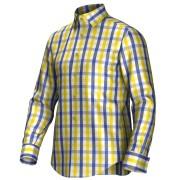 Maatoverhemd geel/blauw 53112