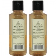 Khadi Pure Herbal Honey Vanilla Shampoo - 210ml (Set of 2)