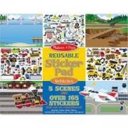 Детска книжка със стикери на превозни средства - 14199 - Melissa and Doug, 000772141994
