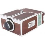 Yoidesu Mini DIY Portable Smart Phone Projector Second-Generation HD Home Theater Projector