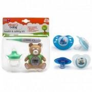 Pachet Kit ingrijire+Set 2 suzete 0+ Vital Baby Model - pentru baieti