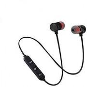 Wireless Sports Bluetooth Magnet Earphone Hand-Free Headphone for All Smartphone (Black)