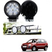 Auto Addict DEVICE 4 inch 9 LED 27Watt Round Fog Light with Flood Beam Auxiliary Lamp Set Of 2 Pcs For Ford Fusion
