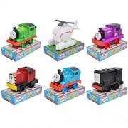 "Thomas & Friends 6pc Set Push Along 4"" My First Train Tank Engine Percy Diesel"