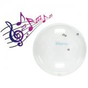 Ledraplastic - Jinglin' Ball 55 cm priehľadná fitlopta s roľničkami