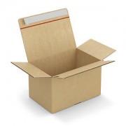 Caisse carton brune simple cannelure montage instantané fermeture adhésive 29x19x18 cm