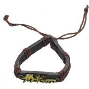 Sullery Lord Shiv Trishul Mahadev Leather Bracelet