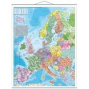 Harta Europa cu Coduri Poştale - 100 x 140 cm.
