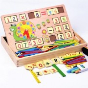 Colorful Multi Functional Educational Wooden Digital Computing Learning Blocks Box Set For Kid's
