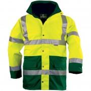 FLUO PE 4 / 1-ben: fluo mellény + polár pulóver (levehető ujjak) + dzseki + bélelt kabát